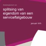 KNB Modelreglement splitsing van eigendom van een serviceflatgebouw 1975